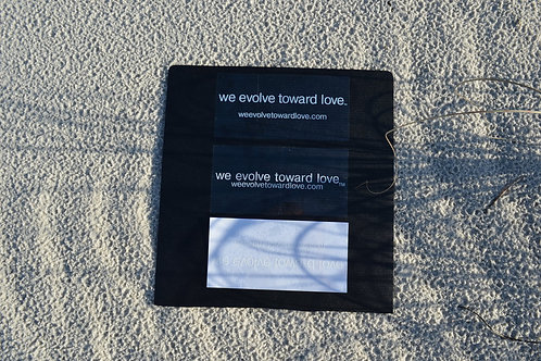 Qty (3) we evolve toward love® stickers