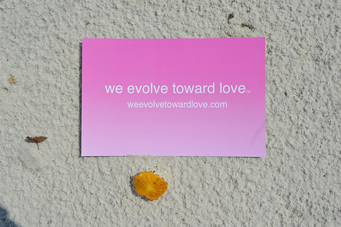 we evolve toward love® poster