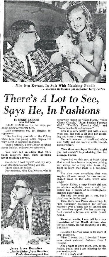 Swimsuit Fashion written up in newsmedia