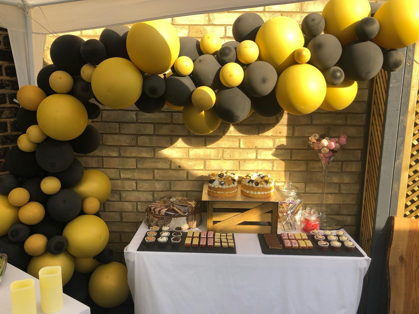 Balloon Garland and Dessert Table