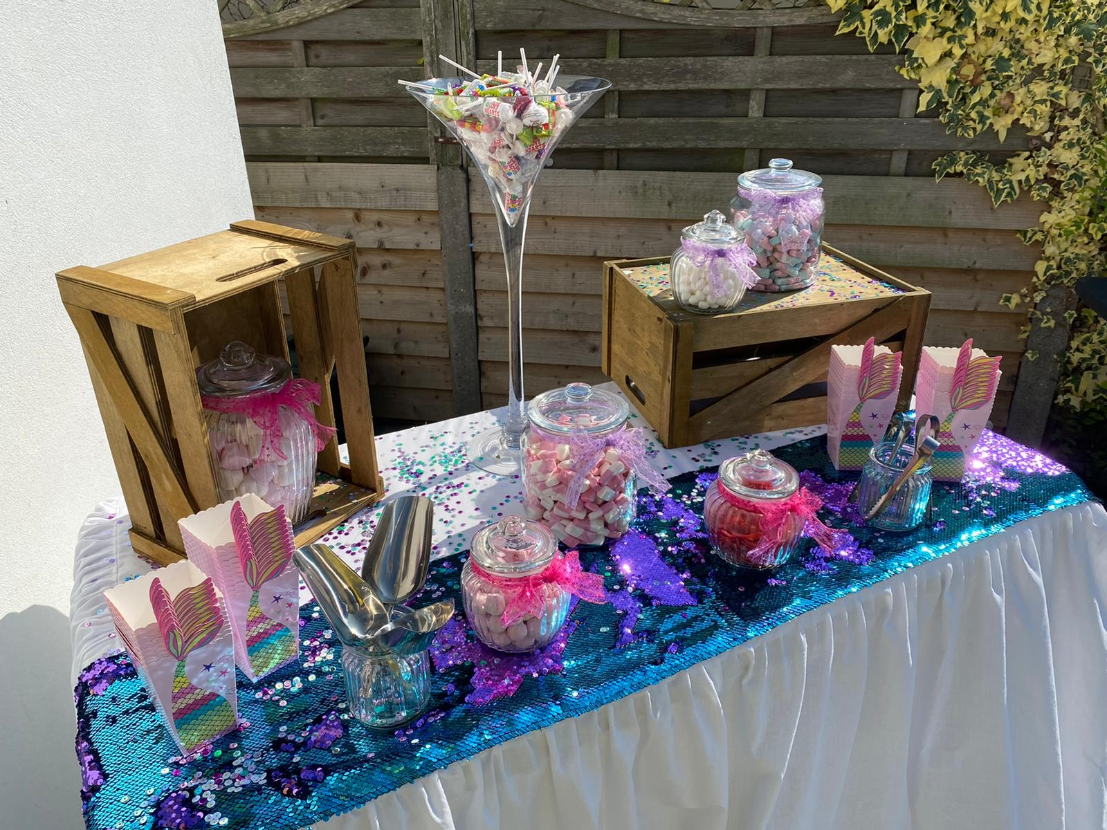Mermaid Themed Sweet Table