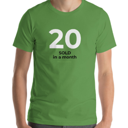 20 SOLD in a MONTH Official Car Sales Shirt Auto Sales Wear Tshirt