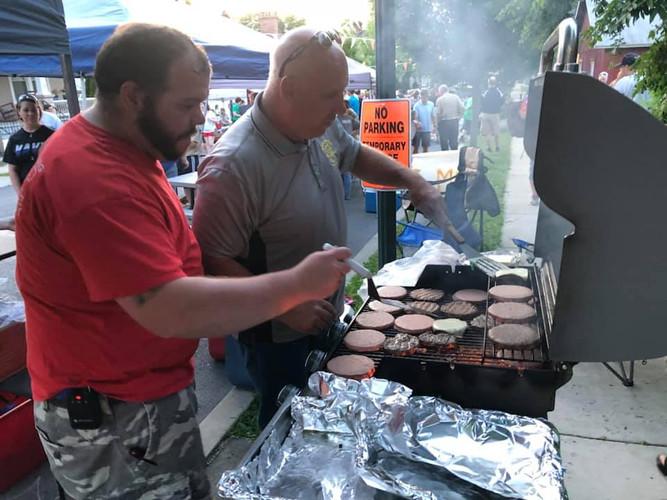 Hose Company making burgers