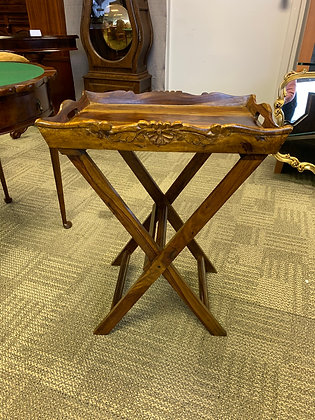 Solid wood butlers tray