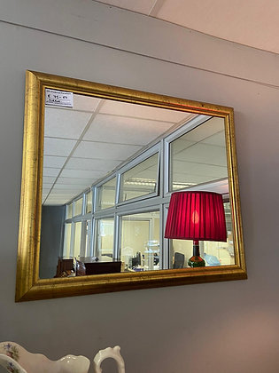 Small Rectangle Gold Mirror