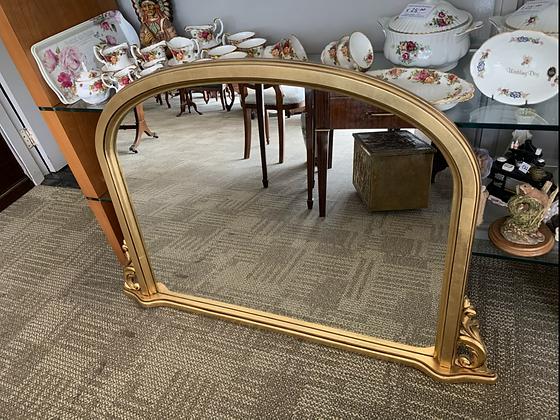 Gilt mantle mirror