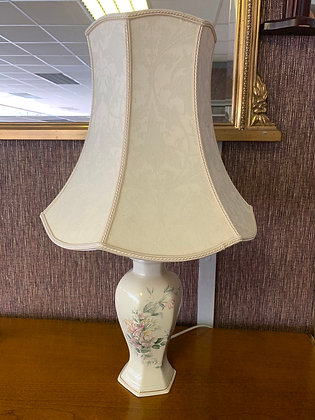 Floral Patterned Lamp and Shade
