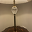Thumbnail: Brass table lamp with glass feature and cream shade  H28 inches x Shade width 14