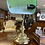 Thumbnail: Antique style bankers lamp with glass top