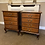 Thumbnail: A pair of solidmahogany bedside lockers with 4 drawers