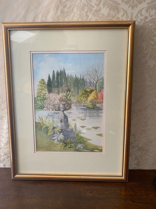 Framed Water Colour Painting - The Lake
