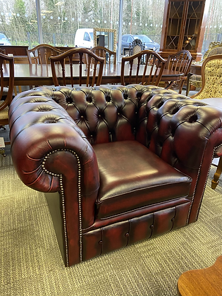 Oxblood clubman chair - made to order