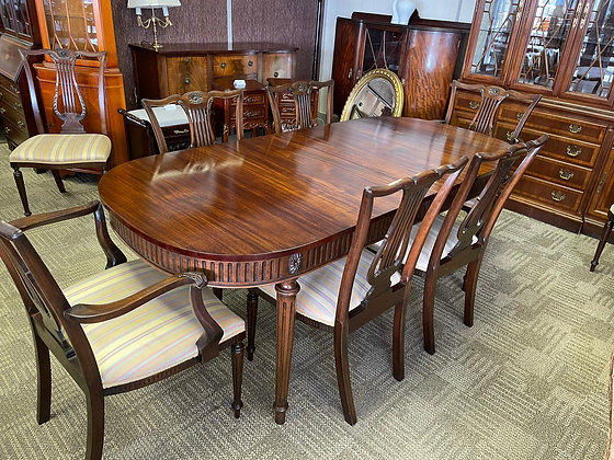 Solid Mahogany extendable table and 6 chairs