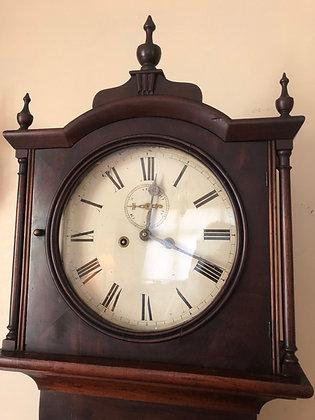 Georgian 1830 mahogany grandfather clock