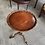 Thumbnail: Mahogany occasional table with carved detail on quatrefoil base