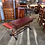 Thumbnail: Mahogany drop leaflet table with a red leather top