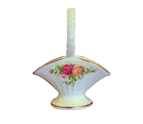 Royal Albert Old Country Roses Miniature Basket