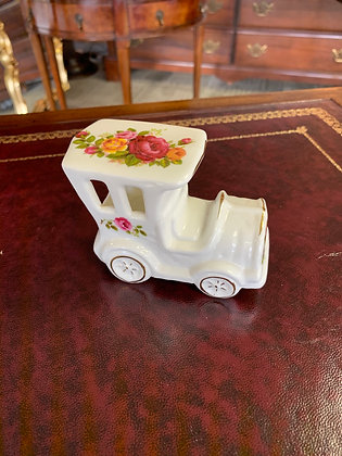"""Royal Albert """"Old Country Roses"""" vintage car ornament"""