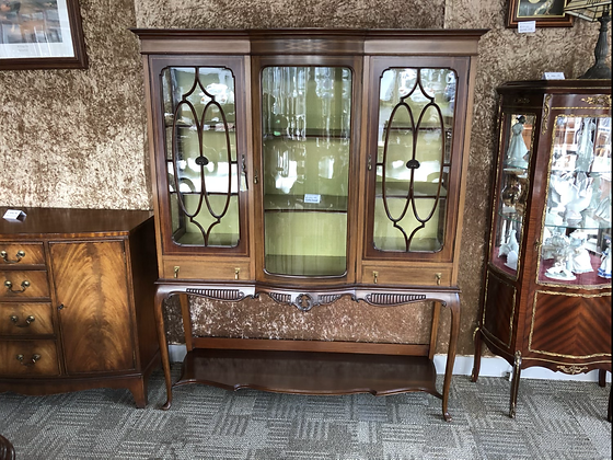 Edwardian inlaid mahogany display