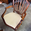 Thumbnail: Mahogany extendable d-end table with 8 pattern material chairs