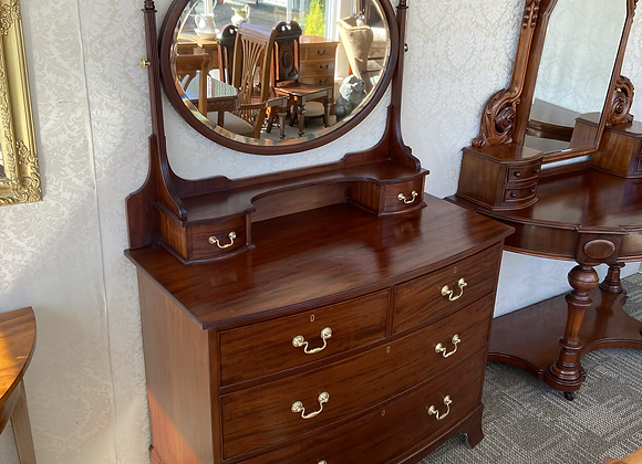 Victorian dressing table with chest of drawers