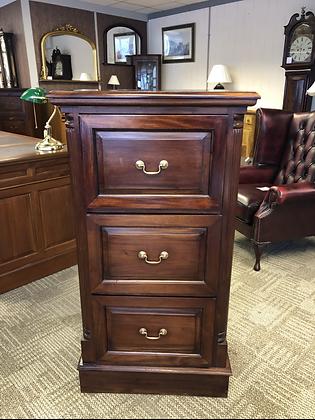 Mahogany tall set of three drawers.