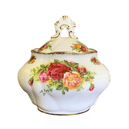 Royal Albert Old Country Roses Dorothy Trinket Pot With Lid