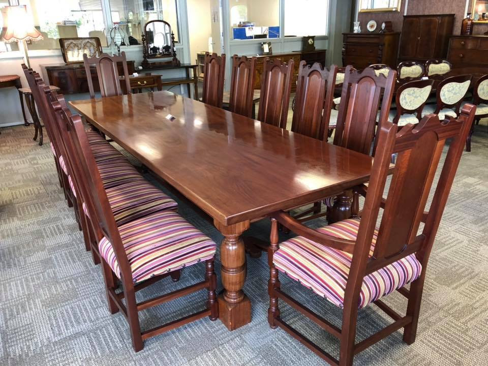 first rate 1b3f4 85bd7 The King of dining table & 12 chairs.