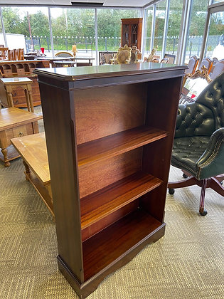 Tall mahogany bookcase with 4 wooden shelves