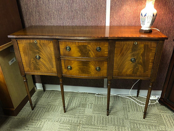 Mahogany flamed Georgian sideboard with 2front drawers & 2 cupboards
