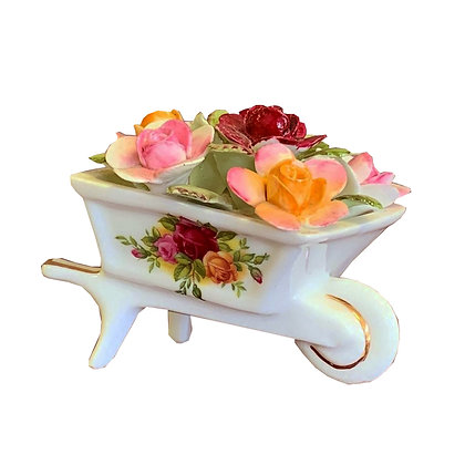 Royal Albert Old Country Roses Flowers in a Wheelbarrow