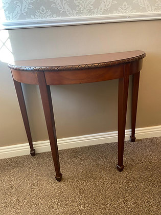 Georgian style mahogany demi-lune side table