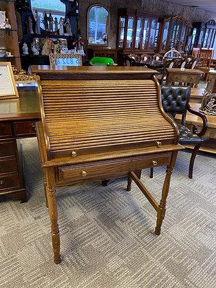 Oak Roller Top Desk with front drawer
