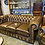 Thumbnail: Tan leather chesterfield 3 seater - made to order
