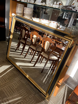 Gold/Black rectangle mirror with detailed edging