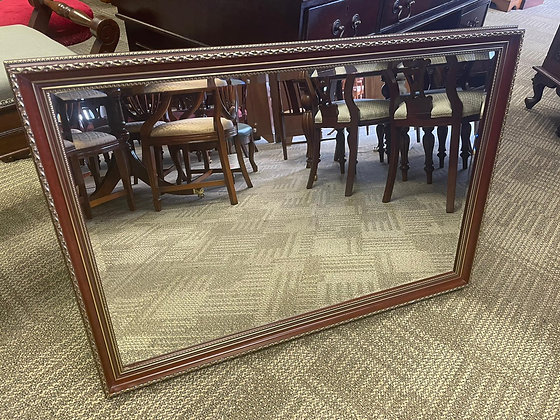 Brown with gold trimming moulded bevelled mirror
