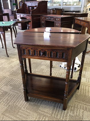 Oak credence hall console table.
