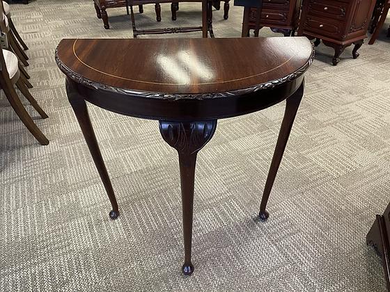 Mahogany inlaid console table
