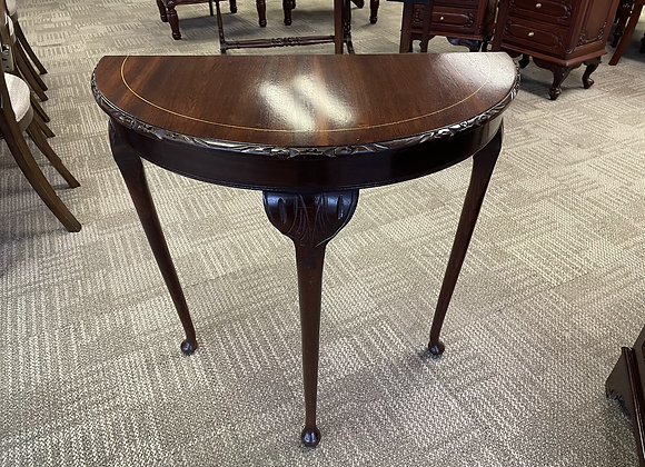 Mahogany console table on cabriole legs