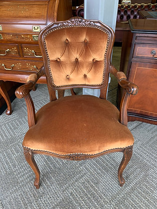 French style occasional chair - Gold Velvet