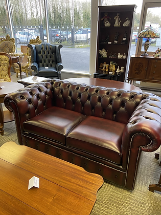 Oxblood 2 seater chesterfield (new)