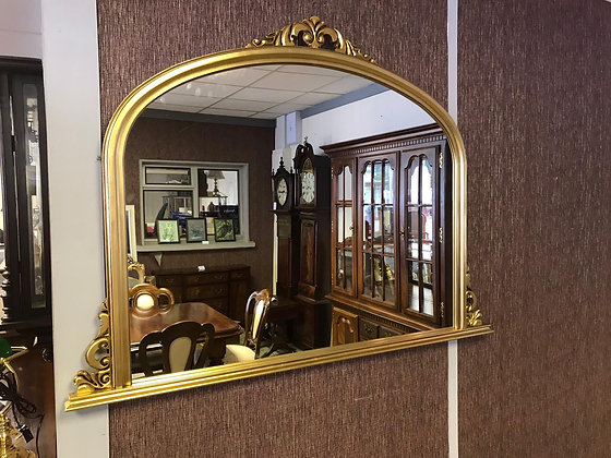 Oval top arched Gold mirror