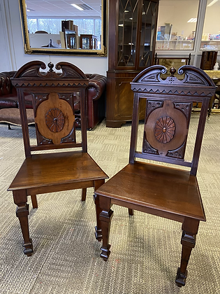 Solid wood mahogany hall/occasional chairs