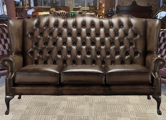 Choco brown high back 3 seater  - made to order