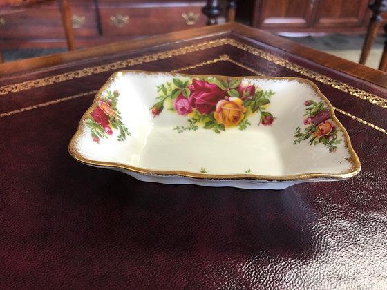 "Royal Albert ""Old Country Roses"" square Bon Bon Dish."