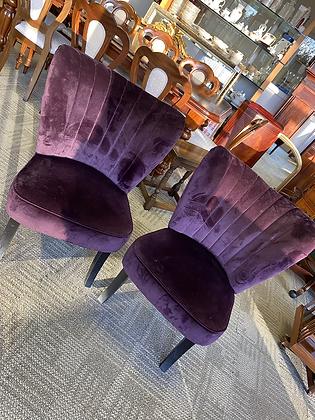 Purple velvet occasional chairs