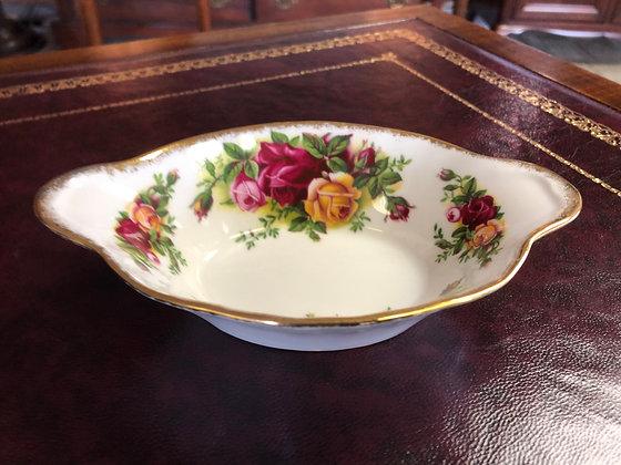 "Royal Albert ""Old Country Roses"" Oval Bon Bon Dish."