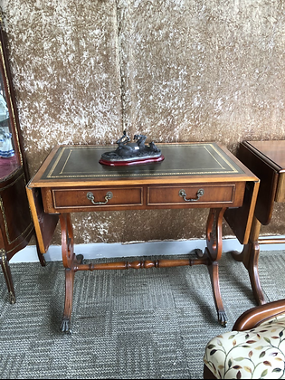 Mahogany drop leaf table/desk