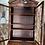 Thumbnail: Georgian style mahogany writing bureau with bookcase on top