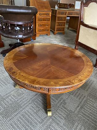 Mahogany/walnut inlaid coffee table